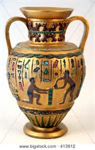 antique arab or ancient vase stock photo stock