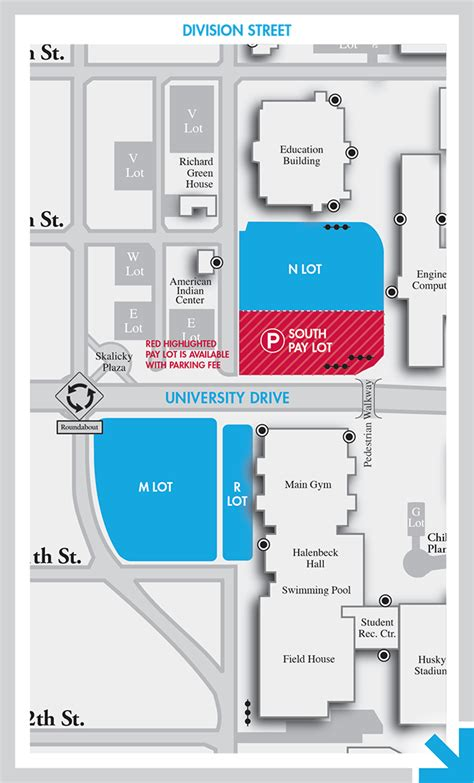 St Cloud Mba by Cus Map Parking Huskies Basketball St Cloud
