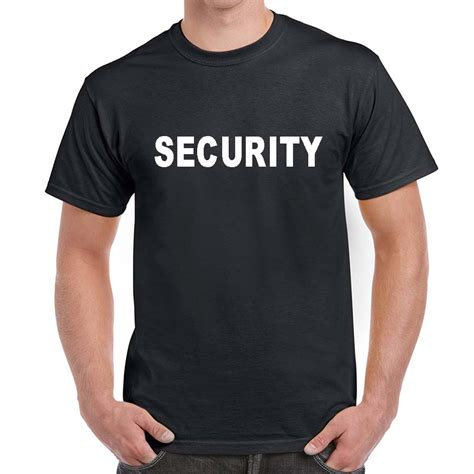 tshirt security1 security t shirts custom security 100 cotton