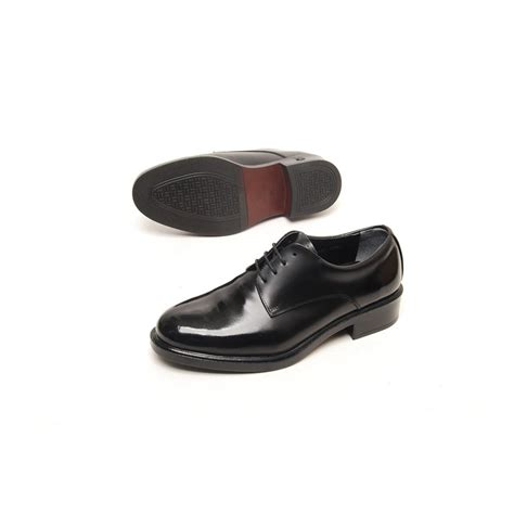 S Plain Top Wrinkle Leather Open Lacing Oxford Shoes