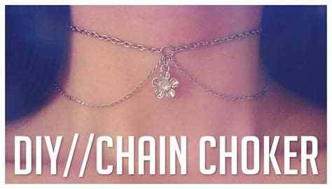 how to make a choker necklace with easy diy chain choker necklace do it yourself