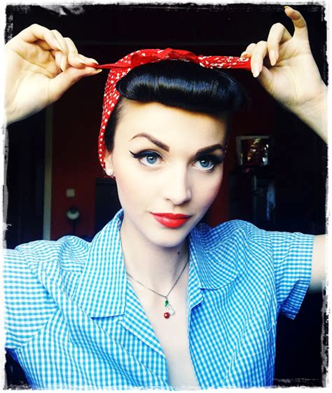 1940s bandana hairstyles idda van munster rosie the riveter hairstyle we can blog it