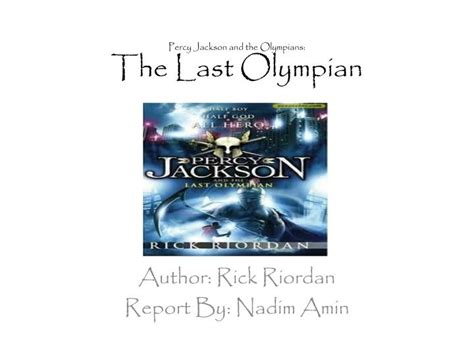 Percy Jackson And The Olympians 5 The Last Olympian Rick Riordan ppt percy jackson and the olympians the last olympian powerpoint presentation id 2090732