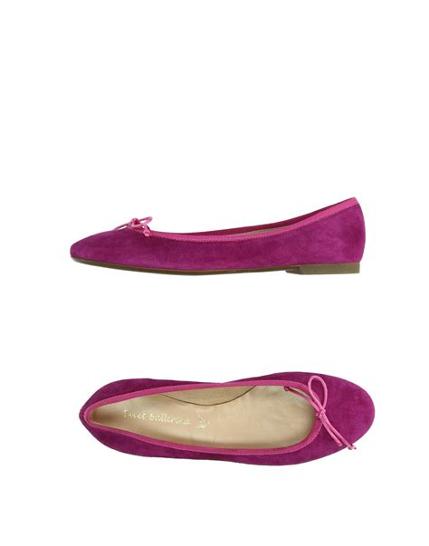 purple flats shoes sweet ballerina ballet flats in purple lyst