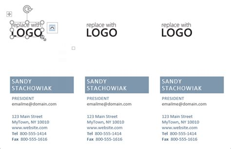 business card with logo template word how to make free business cards in microsoft word with