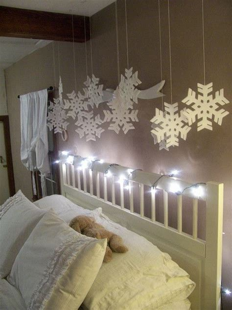 snowflake bedroom 30 christmas bedroom decorations ideas for kids over