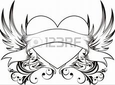 heart with ribbon drawings in pencil - Google Search | My ... Easy Drawings Of Hearts With Ribbons