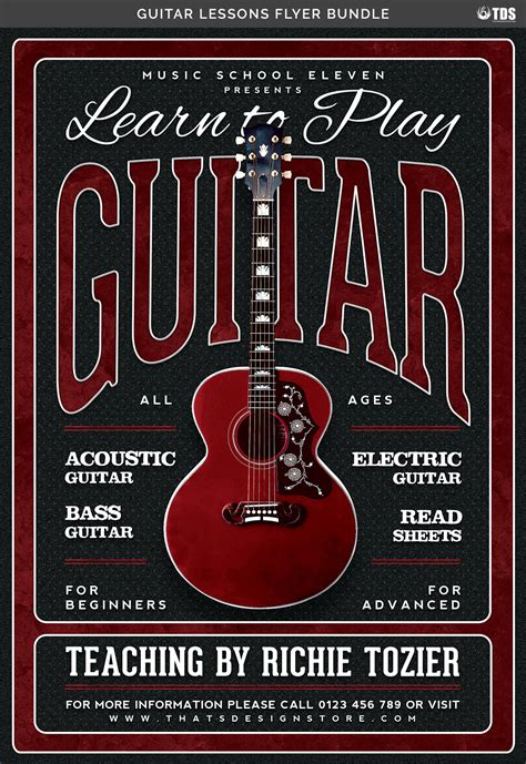 guitar lessons in 1 day bundle the only 4 books you need to learn acoustic guitar theory and guitar for beginners today best seller volume 12 books guitar lessons flyer bundle by thats design store