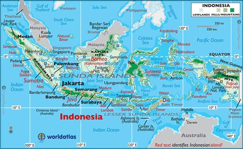 printable peta indonesia indonesia large color map
