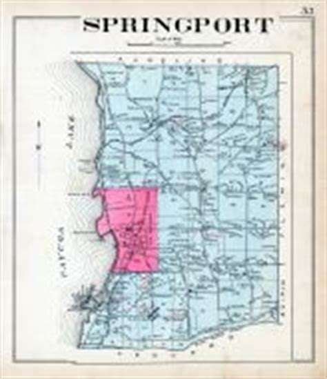 historic map works springport atlas cayuga county 1904 new york historical map
