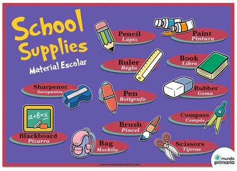 imagenes escolares ingles material escolar en ingl 233 s infograf 237 a mundo primaria
