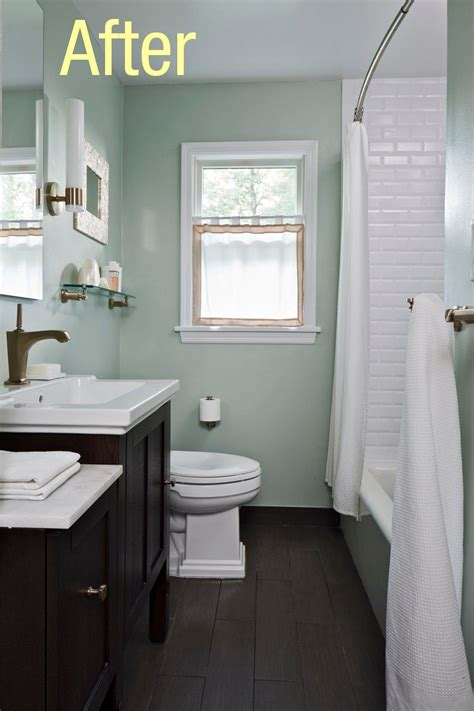 small bathrooms with wood floors would you put wood floors in your bathrooms small bathroom subway tiles and window