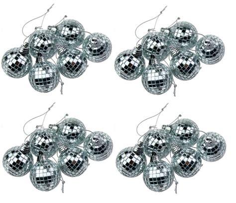 Dãģ Coration Disco Silver Mini Disco Mirror Tree Bauble Home