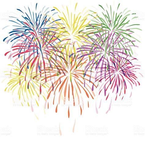 fuochi d artificio clipart fuochi dartificio colorato vettoriale con stelle e