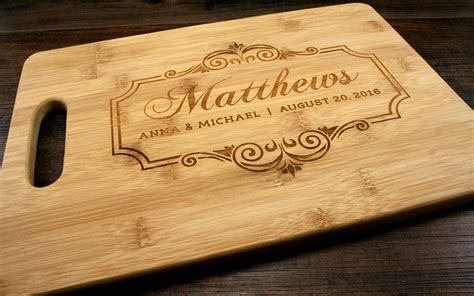 family name personalized bamboo cutting board personalized family name cutting board bamboo cutting board