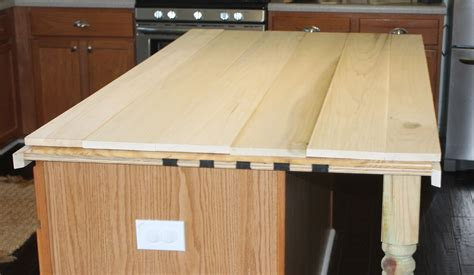 Wood Plank Countertops by The Ragged Wren How To Faux Reclaimed Wood Counter Tops