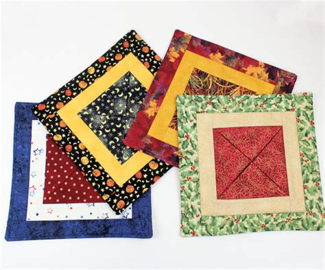 Quilted Candle Mats by Quilted Candle Mats Gift Set Choose 4 Medium Mini By