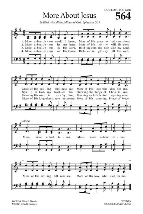 More About Jesus - Hymnary.org