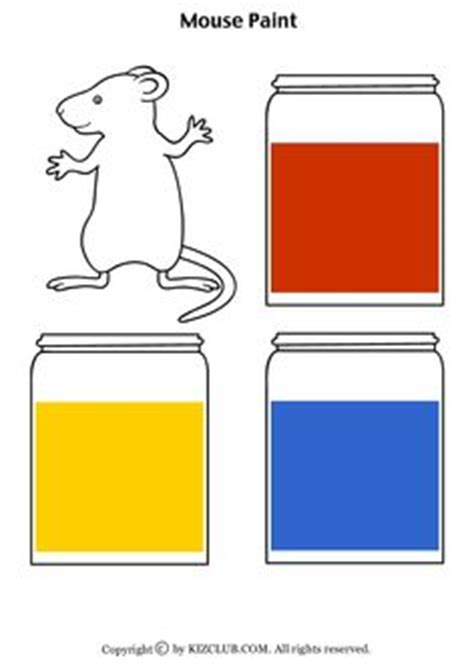 1000 images about mouse paint on mouse paint color mixing and flannel friday