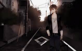 anime boy brown hair brown eyes walk street awesomest anime boys pinterest walking street