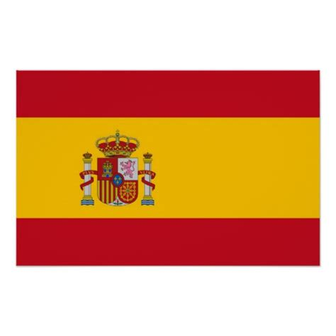 Framed Print With Flag Of Spain Zazzle Printable Spain Flag