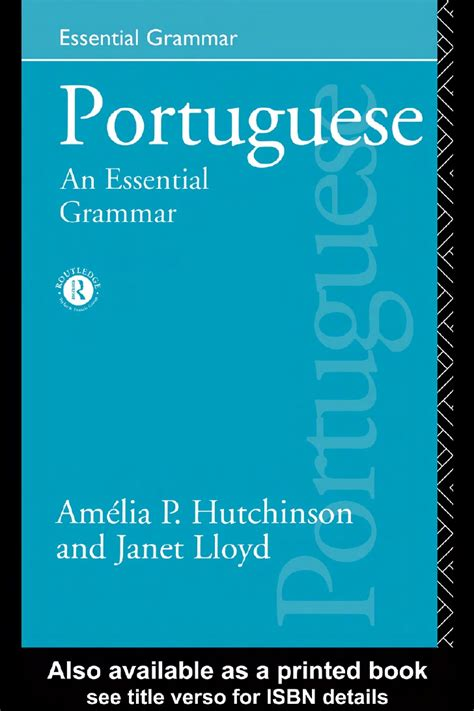 portuguese an essential grammar portuguese an essential grammar