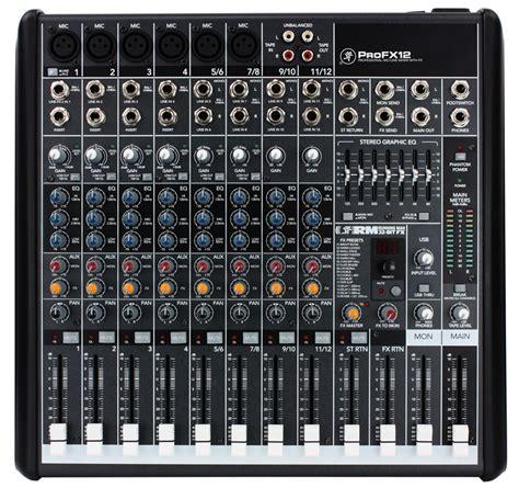 Pro Audio Dj Mackie Mackie Profx12 Pro Audio Dj 12 Channel Digital Live Sound