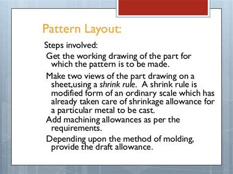 pattern allowances pdf pattern allowances in metal casting