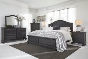 king bedroom set with storage buy sharlowe king storage bedroom set by signature design