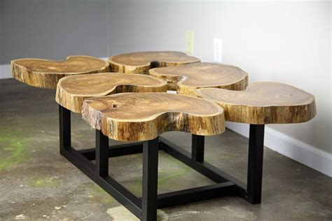 Buy a Hand Crafted Funky Coffee Table, Natural Teak Wood, Slab/Crosscut Modern/Urban Custom