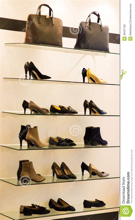 Womans Rack Shoes On Rack Stock Photo Image 48167139