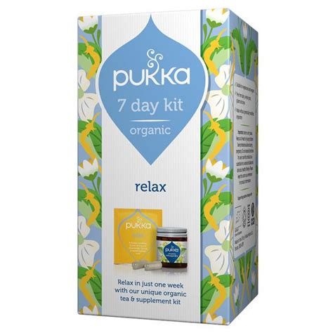 supplement kit organic relax supplement 7 day kit in 22 4g from pukka