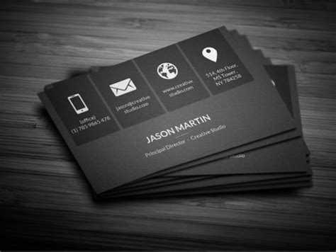 black business card template ai business card template black 33 cool business cards free