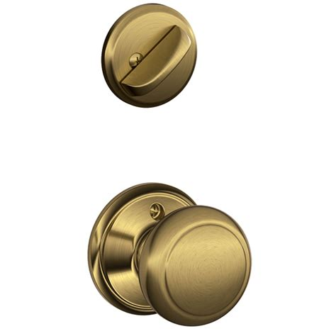 shop schlage andover 1 5 8 in to 1 3 4 in antique brass