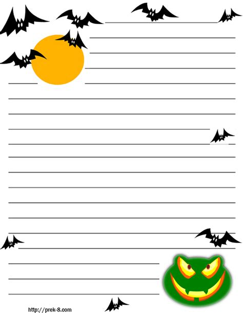 October Writing Paper Template