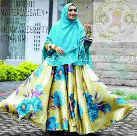 Layna Baloteli Gamis Syari gamis satin cantik a106 baju muslim pesta modern
