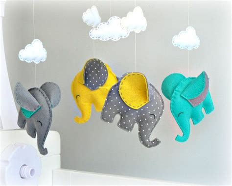 Elephant Mobile For Crib by Elephant Baby Mobile Crib Mobile You Colors