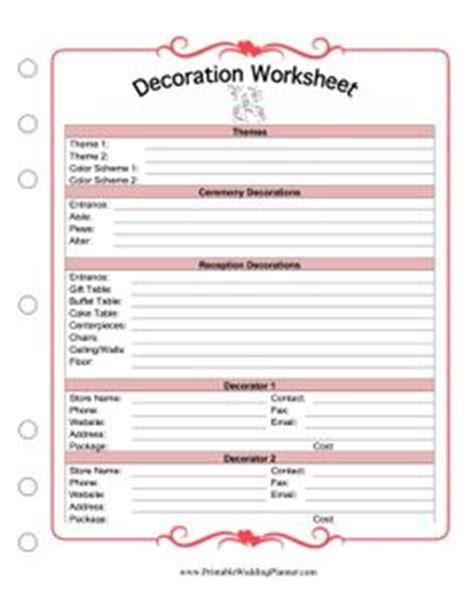 printable wedding flowers worksheet free wedding planner gorgeous free wedding planner