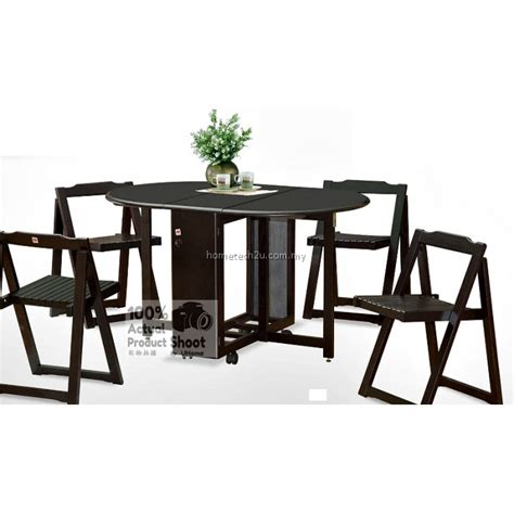 Butterfly Folding Table And Chairs Butterfly Wooden Foldable Dining Table And 4 Folding Chairs Dining Set 1 4