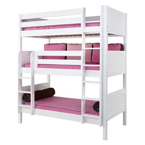 triple bunk beds holy panel medium triple bunk bed rosenberryrooms com