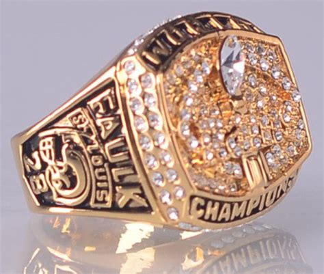 rams bowl rings 1999 st louis rams bowl chionship ring size 11 us