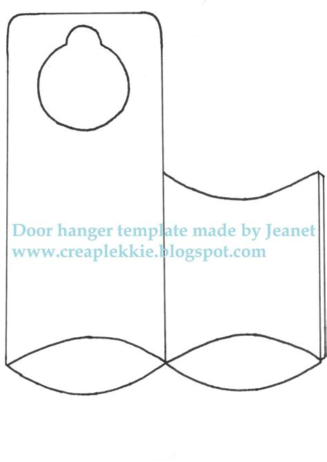 door template card 25 best ideas about door hanger template on