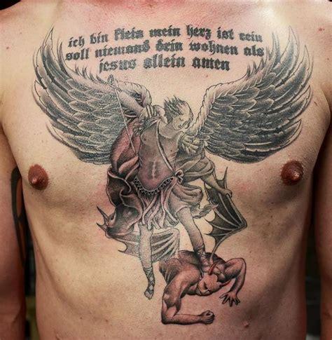 tattoo angel killing demon 17 meilleures id 233 es 224 propos de archangel michael tattoo