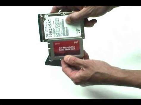"convert 1.8"" ssd to fit 2.5"" laptop hdd bay youtube"