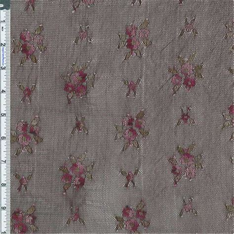 knit fabric by the yard brown pink floral mesh knit fabric sold by the yard