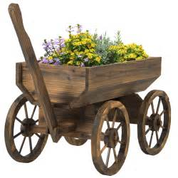 garden wood wagon flower planter pot stand with wheels best 25 wagon wheel decor ideas on pinterest