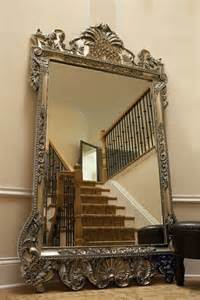 xl 84 quot ornate wall floor mirror antique silver leaf w