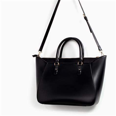 Zara Bag Black zara shopper bag in black lyst