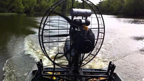 fan boat fan fanboat test run 3 4 throttle 36hp kohler with reduction