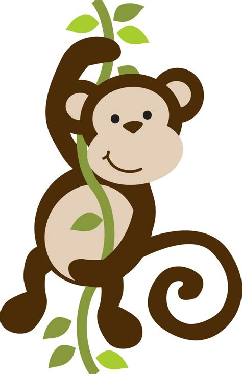 monkey clipart safari clipart baby monkey pencil and in color safari